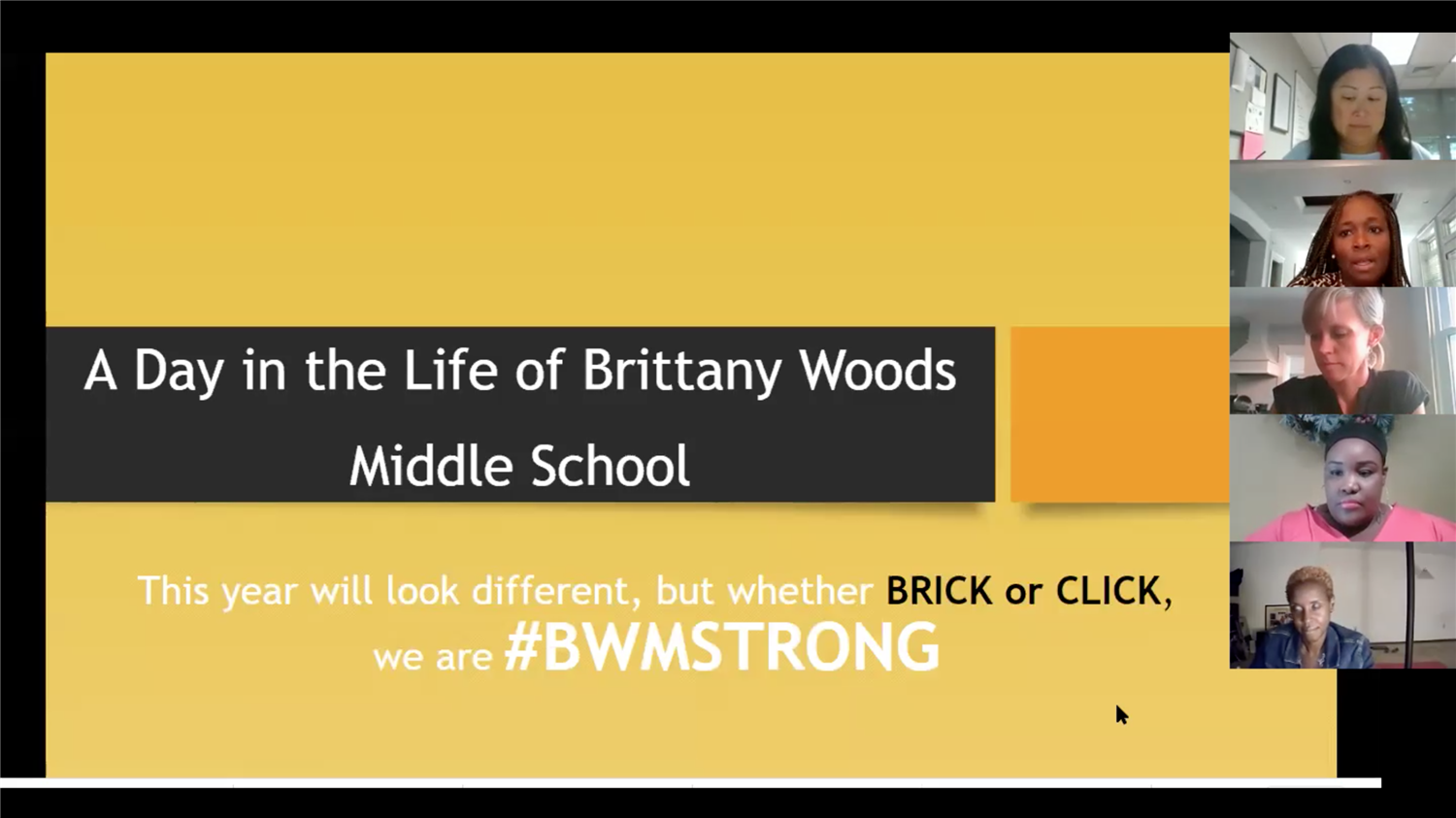 Parent Cafe: A Day in the Life of Brittany Woods Middle School held 01720