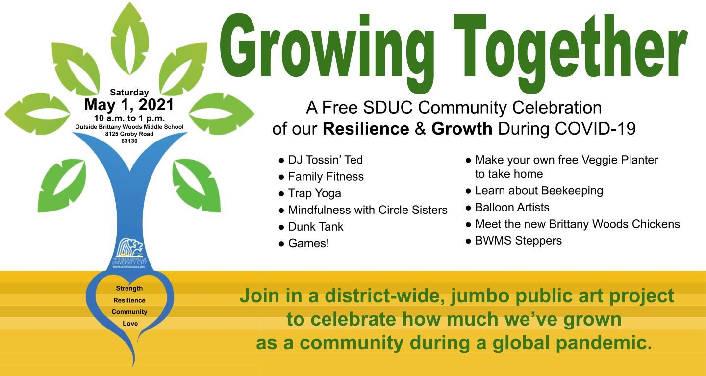 Growing Together 050121 event poster