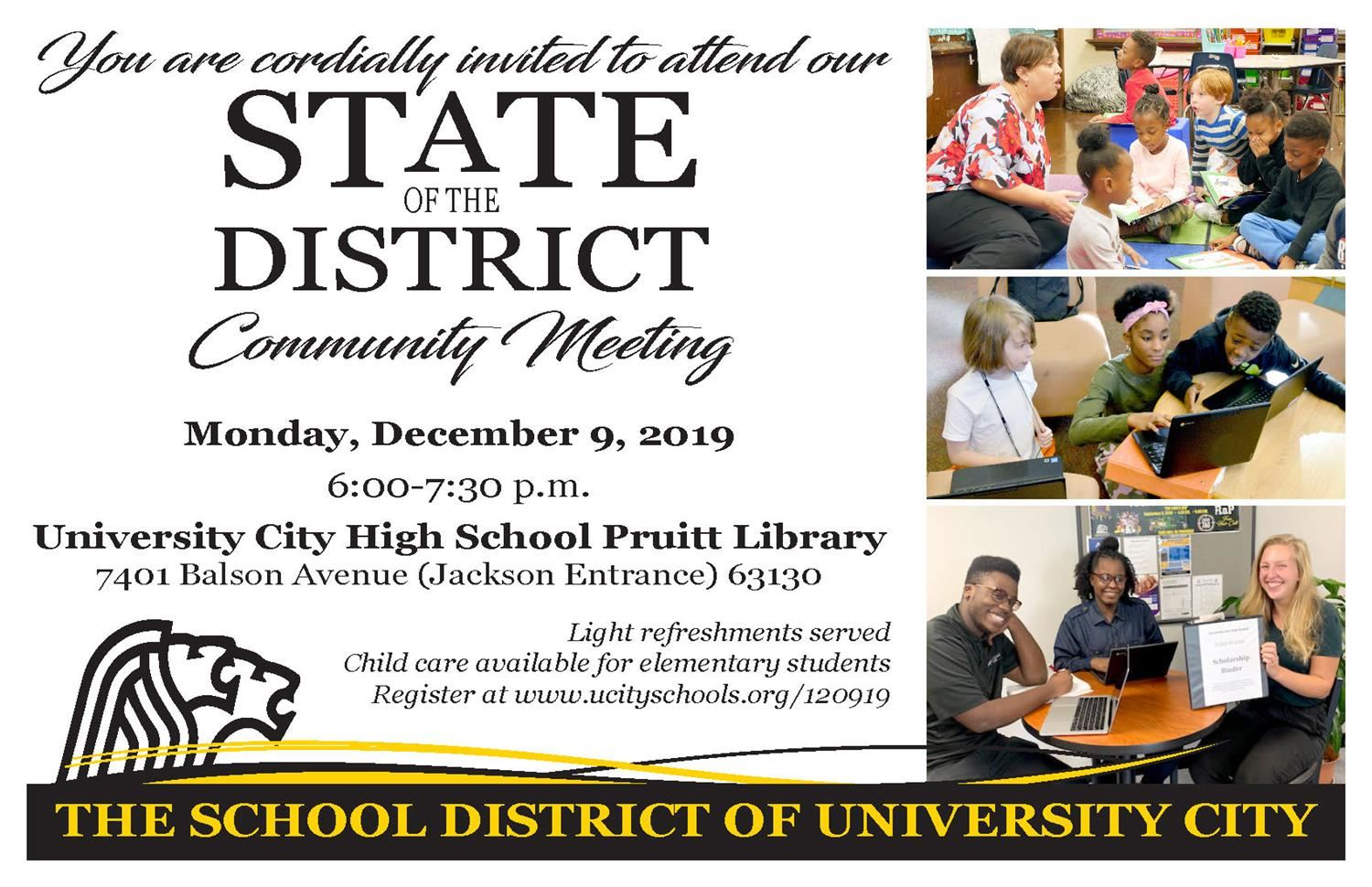 State of the District post card