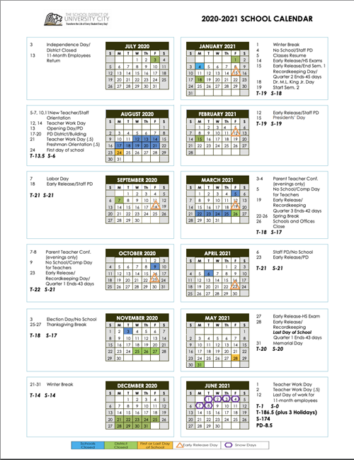 Revised 2020-21 School Year Calendar Now Available